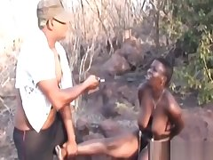 Be in charge African Babe in arms Gets Bonded Together with Abused Outdoors